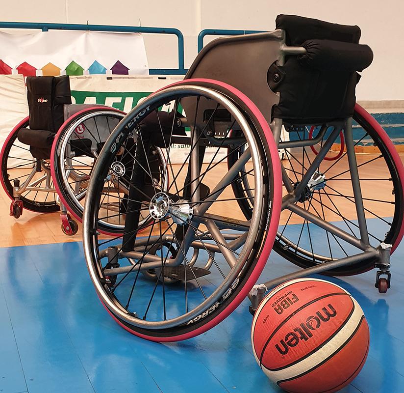 carrozzina da basket